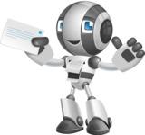 Housekeeping Robot Cartoon Vector Character AKA Glossy - Printer