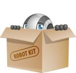 Housekeeping Robot Cartoon Vector Character AKA Glossy - Box