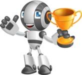 Housekeeping Robot Cartoon Vector Character AKA Glossy - Winner
