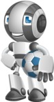 Housekeeping Robot Cartoon Vector Character AKA Glossy - Soccer