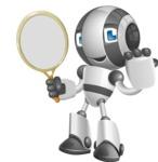 Housekeeping Robot Cartoon Vector Character AKA Glossy - Tennis 2