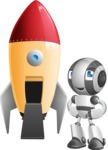 Housekeeping Robot Cartoon Vector Character AKA Glossy - Rocket