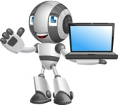 Housekeeping Robot Cartoon Vector Character AKA Glossy - Laptop 2