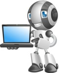 Housekeeping Robot Cartoon Vector Character AKA Glossy - Laptop 3