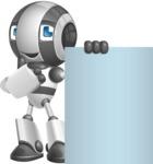 Housekeeping Robot Cartoon Vector Character AKA Glossy - Sign 7