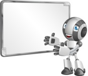 Housekeeping Robot Cartoon Vector Character AKA Glossy - Presentation 1