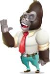 Business Gorilla Cartoon Vector Character - Feeling Bored