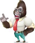 Business Gorilla Cartoon Vector Character - Making a point