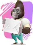Business Gorilla Cartoon Vector Character - Shape 11