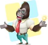 Business Gorilla Cartoon Vector Character - Shape 12