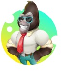 Business Gorilla Cartoon Vector Character - Shape 2