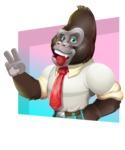 Business Gorilla Cartoon Vector Character - Shape 3