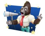 Business Gorilla Cartoon Vector Character - Shape 4