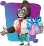 Business Gorilla Cartoon Vector Character - Shape 5