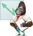 Business Gorilla Cartoon Vector Character - Shape 6