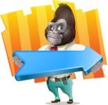 Business Gorilla Cartoon Vector Character - Shape 8