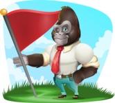 Business Gorilla Cartoon Vector Character - Shape 9