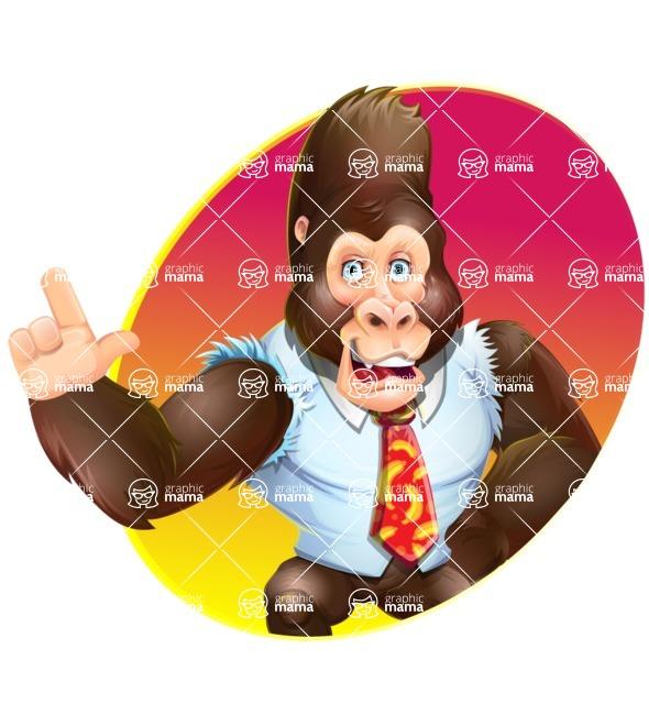 Funny Gorilla Cartoon Vector Character - Shape 1