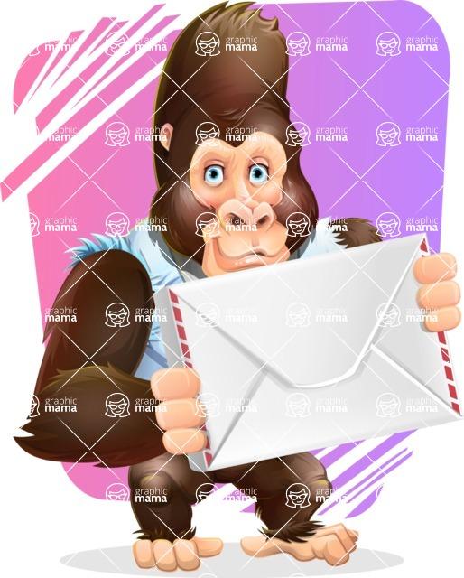 Funny Gorilla Cartoon Vector Character - Shape 11