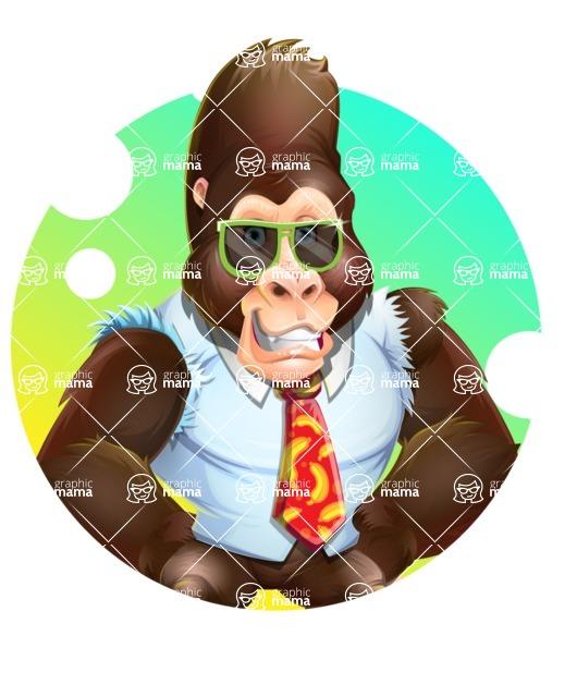 Funny Gorilla Cartoon Vector Character - Shape 2