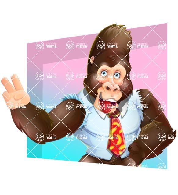 Funny Gorilla Cartoon Vector Character - Shape 3