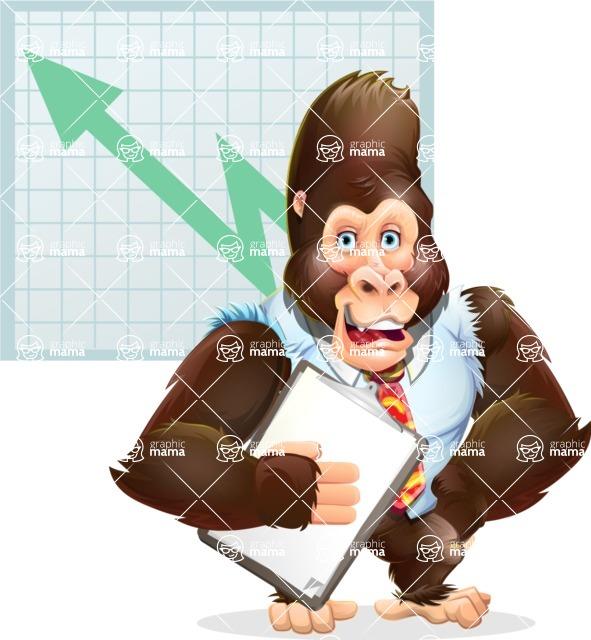 Funny Gorilla Cartoon Vector Character - Shape 6