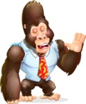 Funny Gorilla Cartoon Vector Character - Feeling Bored