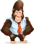 Funny Gorilla Cartoon Vector Character - Rolling Eyes