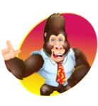 Funny Gorilla Cartoon Vector Character - Shape 1