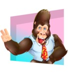 Funny Gorilla Cartoon Vector Character - Shape 3