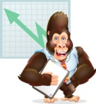 Funny Gorilla Cartoon Vector Character - Shape 6