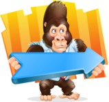 Funny Gorilla Cartoon Vector Character - Shape 8