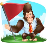 Funny Gorilla Cartoon Vector Character - Shape 9