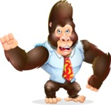 Funny Gorilla Cartoon Vector Character - with Angry face