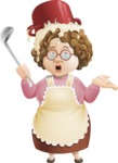 Grandma Vector Cartoon Character - 112 Illustrations Set - Being Bad Chef