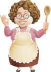 Grandma Vector Cartoon Character - 112 Illustrations Set - Excelent Taste