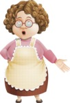 Grandma Vector Cartoon Character - 112 Illustrations Set - Feeling Lost