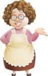 Grandma Vector Cartoon Character - 112 Illustrations Set - Feeling Sorry