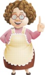 Grandma Vector Cartoon Character - 112 Illustrations Set - Making a Point