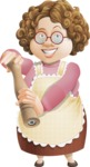 Grandma Vector Cartoon Character - 112 Illustrations Set - Salting