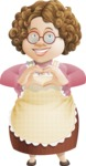 Grandma Vector Cartoon Character - 112 Illustrations Set - Showing Love