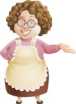 Grandma Vector Cartoon Character - 112 Illustrations Set - Welcoming