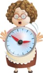Grandma Vector Cartoon Character - 112 Illustrations Set - With No Time for Cooking