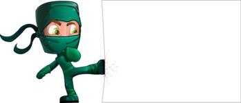 Green Ninja Cartoon Vector Character AKA Takumi - Presentation 7
