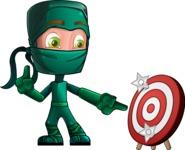 Green Ninja Cartoon Vector Character AKA Takumi - Target