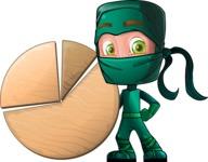 Green Ninja Cartoon Vector Character AKA Takumi - Chart