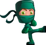 Takumi the Artistic Ninja - Kick 1