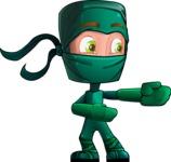 Green Ninja Cartoon Vector Character AKA Takumi - Show 1