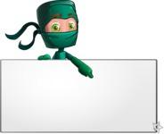 Green Ninja Cartoon Vector Character AKA Takumi - Presentation 2