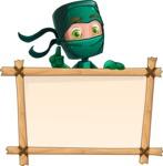 Green Ninja Cartoon Vector Character AKA Takumi - Presentation 6
